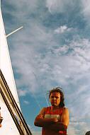 la serietà di Pierleopoldo in barca