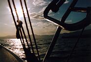 uno splendido tramonto sul lago di Garda