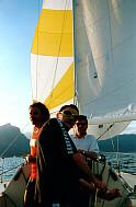 Pierleopoldo e Paolo controllano lo spin, mentre Stefano osserva