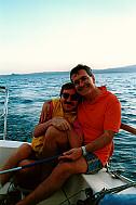 Giampaolo e Pino (che non molla il timone) in vena di tenerezze: che siano un po' k...?